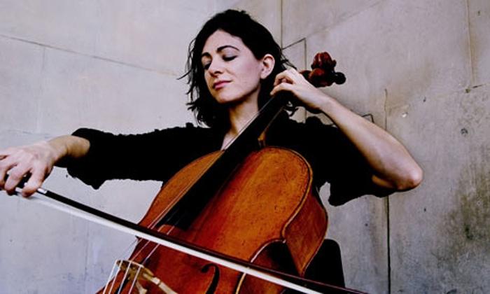 Natalie Clein, cellist. Commissioned for Arts/Portrait of an Artist. Photograph: Sarah Lee/Guardian